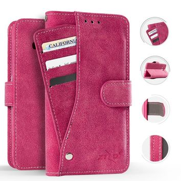 Zizo Wallet Case for LG Stylo 4, Slide Out Pocket Wallet Pouch Case ID Holder