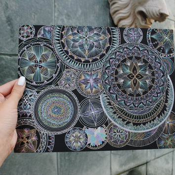 Extraordinary Mandalas. Original - perfect christmas gift for her for him - Holiday gift