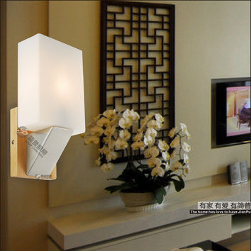 The Simplicity Of Modern Energy-Saving Led Lamp Room Bedroom Bedside Lamp Wall Lamp Personality Japanese Wooden Aisle