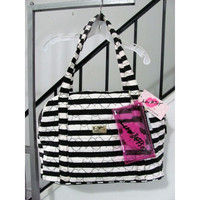 Luv Betsey Betsey Johnson Diamond Quilted Hearts Travel Bag