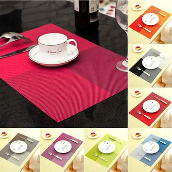 DCCKL72 New Fashion PVC Dining Table Placemat Europe Style Kitchen Tool Tableware Pad Coaster Coffee Tea Place Mat