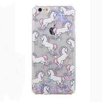 Bling Bling Sequins Dream Unicorn Iphone Cases for 5 5S 6 6S 6 Plus