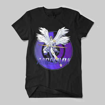 Angelmon Digimon Character Anime Japan T-Shirt Unisex Size
