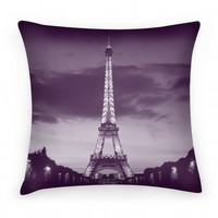 Eiffel Tower Pillow (Purple)
