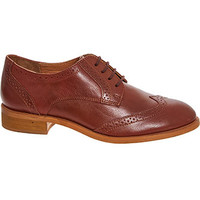 Dune Brown Leather Brogues