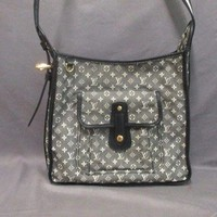 Auth LOUIS VUITTON Besace Mary Kate M92324 Noir Monogram Mini Cotton & Canvas
