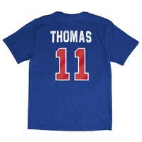Mitchell & Ness Isiah Thomas Name & Number Detriot Pistons Tee In Royal