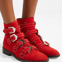 Givenchy - Elegant studded suede ankle boots