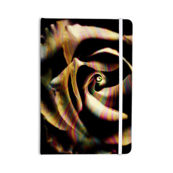 "Ingrid Beddoes ""Rose Swirl"" Rainbow Black Everything Notebook"