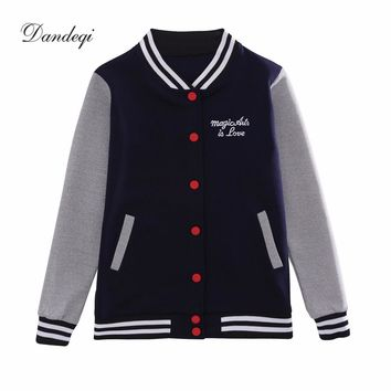 New Kpop Baseball Jacket Women College Jacket Fashion Hoodies Woman Coat Fashion New Hoodies Sweatshirt Plus Size M-5XL