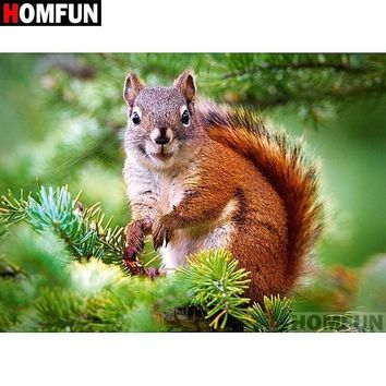 5D Diamond Painting Squirrel on a Branch Kit