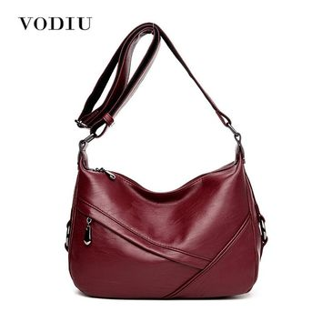 Women Bags Leather Tote Over Shoulder Sling Messenger Crossbody High Quality Ladies Fashion Zipper 2017 Hot Sale Female Handbag