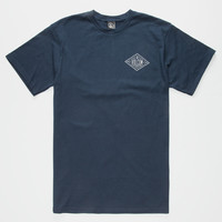 Volcom A Frame Mens T-Shirt Navy  In Sizes