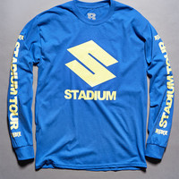 Justin Bieber Stadium Tour S Blue Long Sleeve T-Shirt at PacSun.com