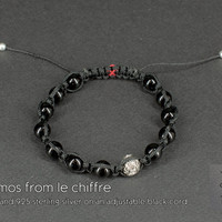 Cosmos agate silver bracelet