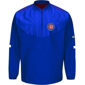 Chicago Cubs 2015 On-Field Long Sleeve Training Jacket by Majestic Athletic