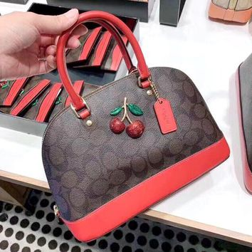 COACH 2019 new color matching three-dimensional pattern shell bag shoulder bag Red