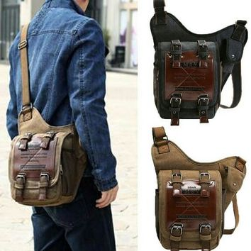 Vintage Retro Canvas Messenger Bag Pack
