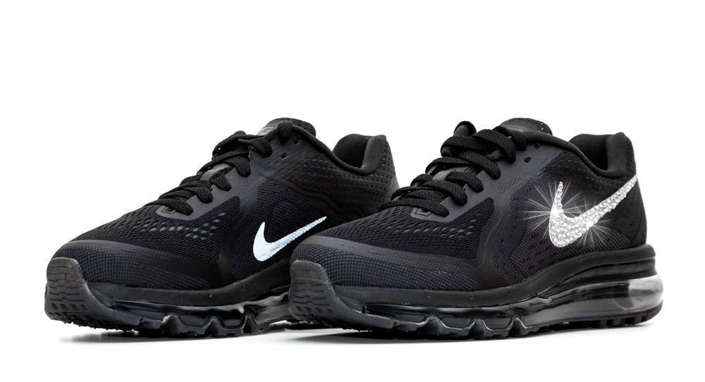 ... Bling Shoes  fashion black 6ddcc 9d9ae Nike Air Max 360 Running Shoes  By Glitter Kicks - Customized With ... a4e549a941