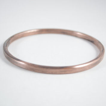 Copper Patina Bangle, Copper Bracelet, Copper Jewelry, Patina Jewelry, Hand Polished Bangle, Hand Waxed Bangle, Unisex Jewelry,Unisex Bangle