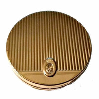 COTY Powder Compact FRENCH Flair Makeup Face Powder Mint UNUSED Vanity Beauty Collectible Vintage Cosmetics Old Hollywood Glam Vanity Case