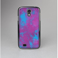 The Purple and Blue Paintburst Skin-Sert Case for the Samsung Galaxy S4