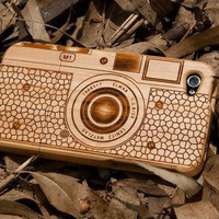 wooden bamboo camera iphone 4 case  iphone 4s case