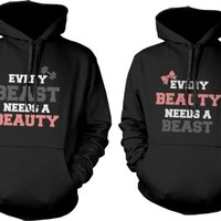 I Love My Crazy Girlfriend and Boyfriend Couple Hoodies