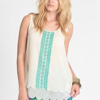 Southern Skies Scalloped Top - $28.00 : ThreadSence, Women's Indie & Bohemian Clothing, Dresses, & Accessories