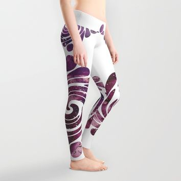 Abstract painting purple Leggings by VanessaGF