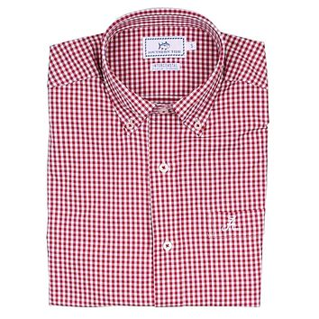 Men's University of Alabama Intercoastal Performance Shirt in Crimson by Southern Tide