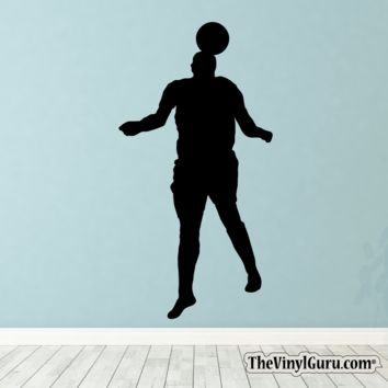 Soccer Wall Decal - Man Futbol Player Sticker #00029