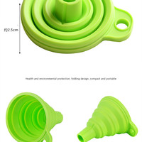 Silicone Oil Funnel Foldable colander strainer Utensils Home Kitchen Gadgets Dining bar Cooking Spices Tool Accessories Supplies