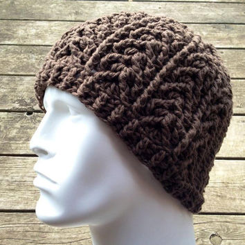 Crochet Pattern for Unisex Arrowhead Beanie Hat - 6 sizes, baby to large adult - Welcome to sell finished items