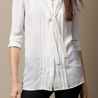 Tie Detail Silk Shirt