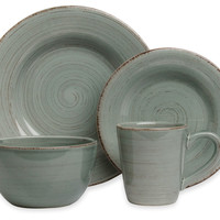 16-Pc Sonoma Dinnerware Set, Slate Blue, Dinner Plates
