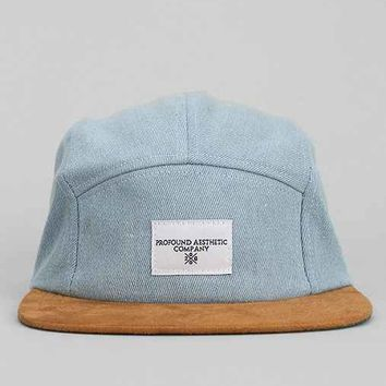 Profound Aesthetic X UO Washed Denim Strapback Hat- Sky One