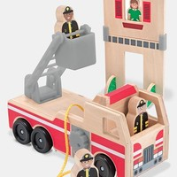 Toddler Melissa & Doug 'Whittle World - Fire Rescue' Wooden Toy
