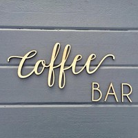 Coffee Bar Small Wall Sign, Kitchen Dining Room Office Break Room Home Wall Art Drink Housewarming Gift