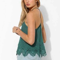 Pins And Needles Embroidered Mesh T-Strap Cami-