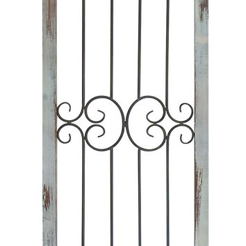 "Metal Wood Wall Decor 72""H, 16""W Wall Decor"