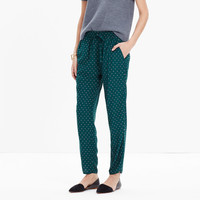 TRACK TROUSERS IN FOULARD DOT