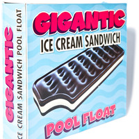 Big Mouth Toys Gigantic Ice Cream Sandwich Pool Float Multi One