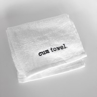 Cum Towel- White