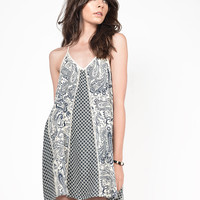 Mix Paisley Printed Dress