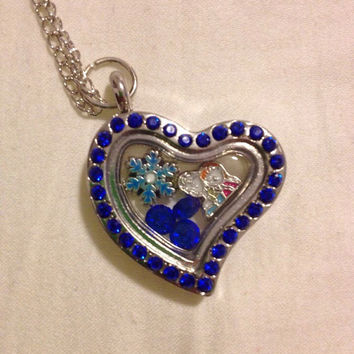 Disney's Frozen Anna and Elsa Floating Charm Locket Let It Go