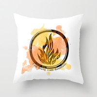 Divergent Dauntless Symbol Throw Pillow by hayimfabulous
