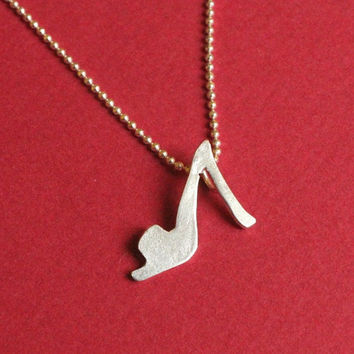 FREE SHIPPING Tiny Summer Stiletto Heels Necklace by meltemsem