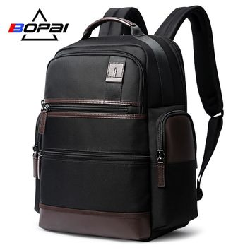 BOPAI USB Charge Men 15.6 inch Laptop Backpacks  Famous American Design Male Mochila Trendy Large Travel Backpack Anti Thief