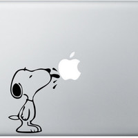 Macbook Decal Snoopy Licks Apple Mac Decal Macbook by DecalisArt